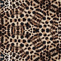 豹纹数码印花花型