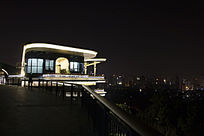 叠落夜景建筑