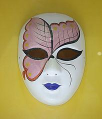 粉色蝴蝶图案面具标本