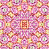 粉色数码印花花型