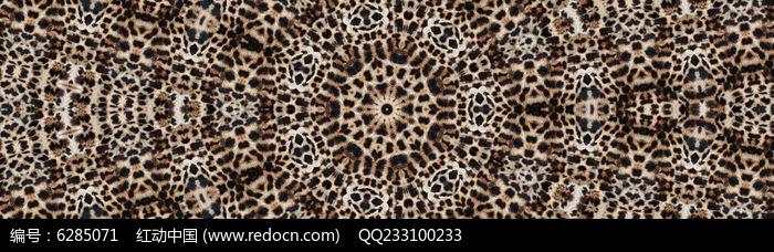 面料豹纹数码印花花型图片