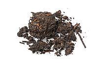 白背景上的云南普洱茶