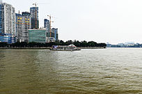 珠江江心岛一角