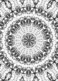 黑白素雅印花