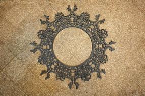 铁艺圆形花纹墙贴