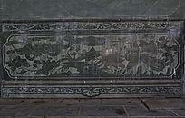 壁刻凤凰木雕图案