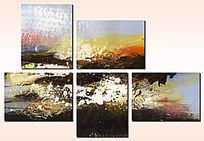 抽象三联油画现代抽象油画简约抽象油画
