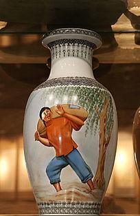 景德镇文革瓷背粮食瓷瓶