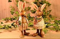 兔子桌面摆件