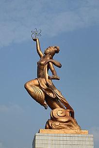 古典美女科技雕塑