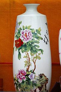 花开富贵大肚花瓶