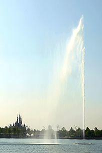 迪士尼喷水柱