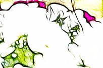 白色三色堇装饰画