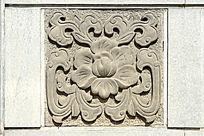浮雕传统花卉纹样