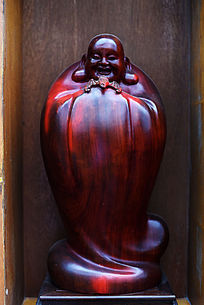 红木笑脸和尚