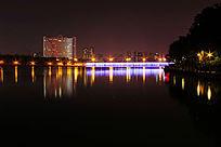 南宁南湖大桥夜景