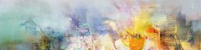 抽象油画风景
