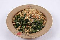 中国菜花生末拌菠菜