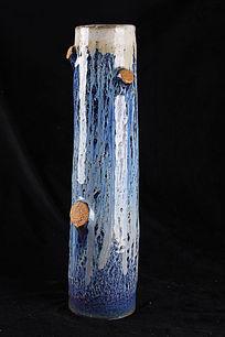 彩绘大树图案花瓶