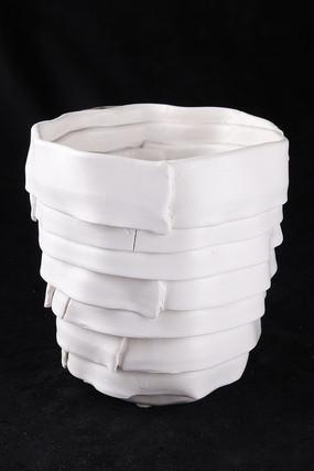 纸皮长花瓶