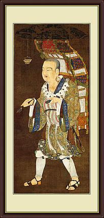 佛教绘画《玄奘负笈图》高清图