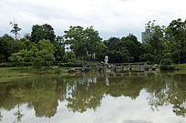 公园中的湖泊