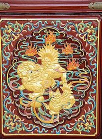 金色麒麟雕刻