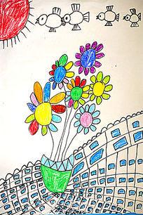 花卉卡通彩画