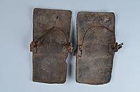 现代人字牛皮拖鞋