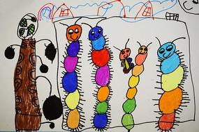 小动物卡通创意画