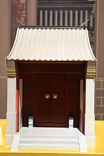 传统中式金柱大门模型