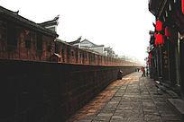 凤凰古城清晨的古城墙