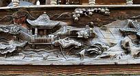 木雕 荷花凉亭