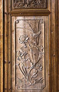 木雕 连年喜庆图