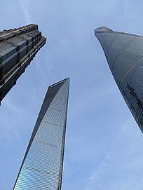 上海浦东上海中心大楼三件套三巨头