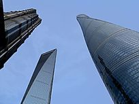 上海浦东上海中心大楼三件套三聚头