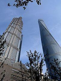 上海浦东上海中心和金茂大厦
