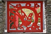 中国风小鸟花纹背景素材图片