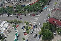 城市马路俯视图