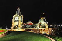 上海迪士尼主入口夜景