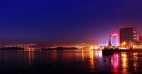 厦门海沧大桥夜景图