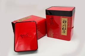 中国名茶祁门红茶包装铁盒产品图