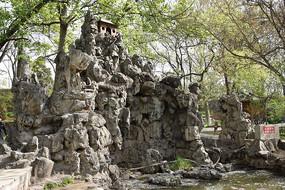 公园假山园林景观图片