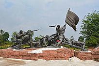 红军旗手石雕