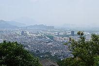温州瓯海大罗山城市风光
