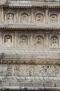 五塔寺石刻浮雕佛像墙