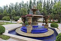 欧式别墅园林喷泉