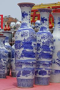 彩绘清明上河图大花瓶