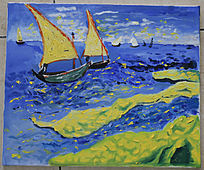 大海中的帆船