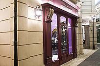 欧式风格的街道和商铺